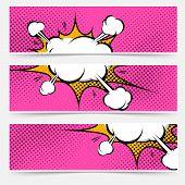 Pop-art Explosion Steam Bang Web Banners