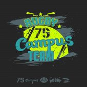 Rugby Emblem Campus Team