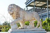 Marble Medici Lion Near Vorontsov (alupka) Palace