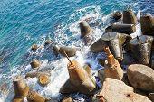Abandoned Mooring Stones, Crimea