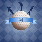 Golf Ball With Golfist Silhouette
