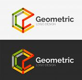 Minimal line design logo, business icon, branding emblem