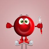Red Blood Cell With Syringe