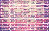 Grunge Brick Wall  Background With Vignetted Corners.
