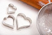 Cookie Cutters And Flour Sieve