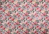 Rose design pattern on fabric as background