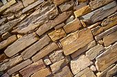 Sandstone Rocks In Wall