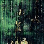 Old-style background, aging texture. With different color patterns: green, blue, black
