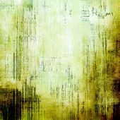 Aging grunge texture, old illustration. With different color patterns: brown, green, gray
