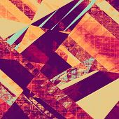 Grunge texture, may be used as background. With different color patterns: yellow, red, orange, purple (violet)