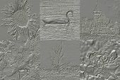 Set Of Metal Relief Generated Textures