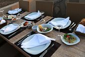 Turkish Assorted Turkish Meze On Table