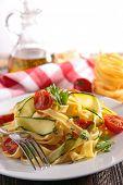tagliatelle and vegetable
