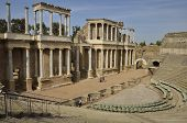 The Roman Theatre Of Merida