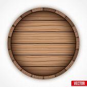 Wooden cask for alcohol drinks emblem