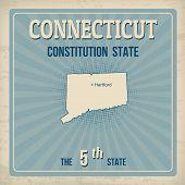 Connecticut  Retro Poster