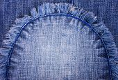 Jeans Background With Semicircle Center