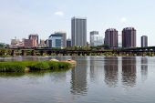 foto of virginia  - A skyline view of Richmond Virginia USA the state capital as seen from across the James River - JPG