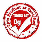 Trans Fat Zero Grams Stamp