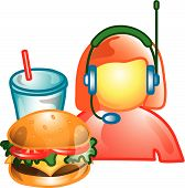 Drive Through Food Operator Icon