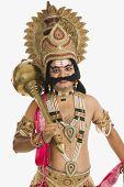 picture of ravana  - Portrait of a stage artist dressed - JPG