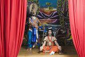 foto of ravana  - Two actors dressed - JPG