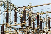 stock photo of electric station  - Power station for making the electric energy - JPG