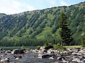 Falling-home from stones between the bottom and average lake Mult, mountain Altai 9