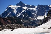Snowfields Artist Point Glaciers Mount Shuksan Washington State