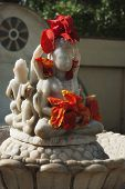 image of lakshmi  - Statues in the garden of a temple - JPG