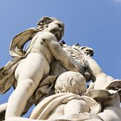 stock photo of putty  - Low angle view of a statue - JPG