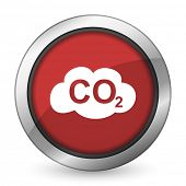 image of carbon-dioxide  - carbon dioxide red icon co2 sign  - JPG