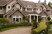 image of residential home  - An upscale executive home - JPG
