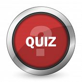 pic of quiz  - quiz red icon   - JPG