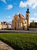 Carmelite Church In The City Of Gyor, Hungary