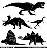 picture of herbivore animal  - Different types of prehistoric dinosaur icons - JPG