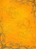 orange artistic frame