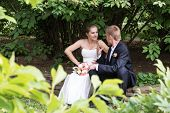 pic of pry  - Peeping as the bride and groom are sitting and argue with each other - JPG