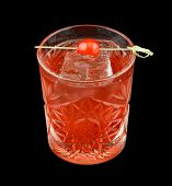 stock photo of vodka  - Red drink that contains vodka - JPG