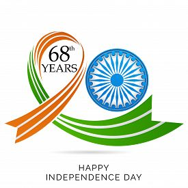 image of ashok  - illustration Creative background for Indian Independence Day - JPG