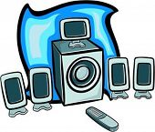 5.1 dolby digital speakers with remote control. Check my portfolio for many more similar images.