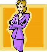 Elegant blond businesswoman. Check my portfolio for many more images of this series.