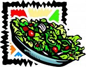 A vector illustration of a salad.