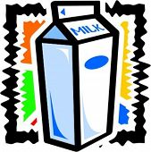A vector illustration of a milk.