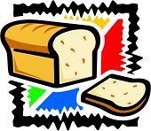 A vector illustration of a sliced bread.