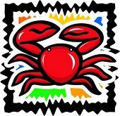 Seafood - crab. Vector illustration