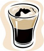Glass with drink.Vector illustration