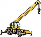 Crane truck.Vector illustration