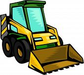 stock photo of skid-steer  - Skid Steer loader - JPG