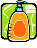 Liquid soap.Pantone colors.Vector illustration